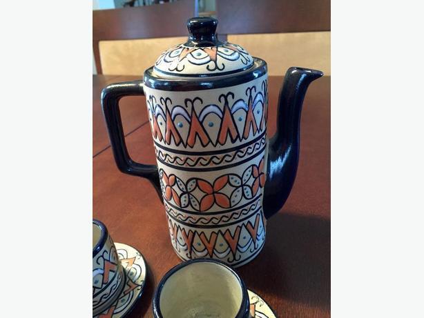 Authentic Mexican espresso serving set