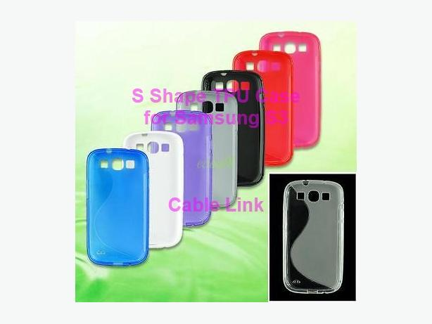 S Shape TPU Gel Silicone Durable Soft Case for Samsung S3