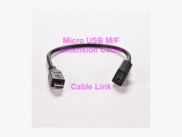 Micro USB M/F Port Saver Extension Cable (Data+Charging)