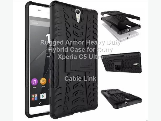 Dual Layer Heavy Duty Hybrid Case for Sony Xperia C5 Ultra