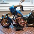 WCW Road Wild Bill Goldberg Motorcycle Toy Biz 1999 Works