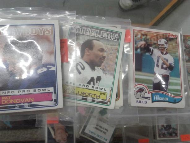 Various 1980's Football Cards