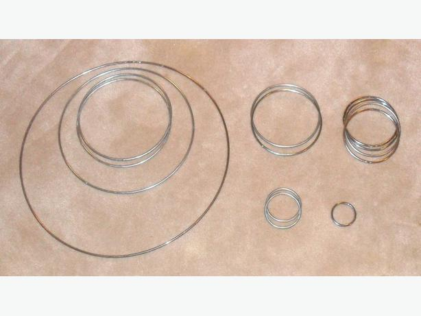 2 Sets of 1/8 in. Thick Chrome Wire Rings