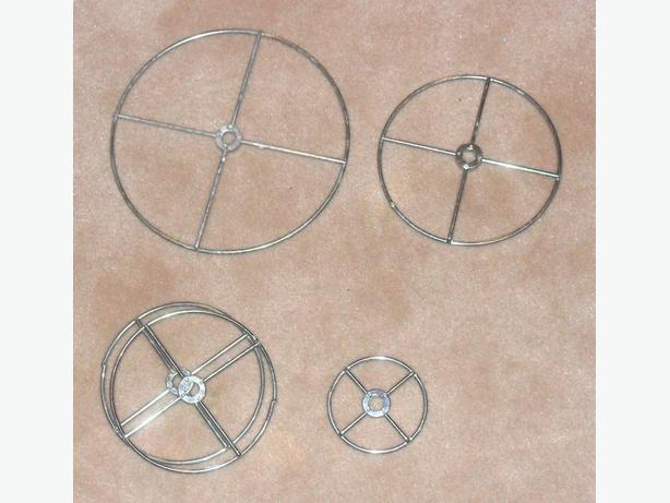 Set of Five 1/8 in. Thick Chrome Wire Rings