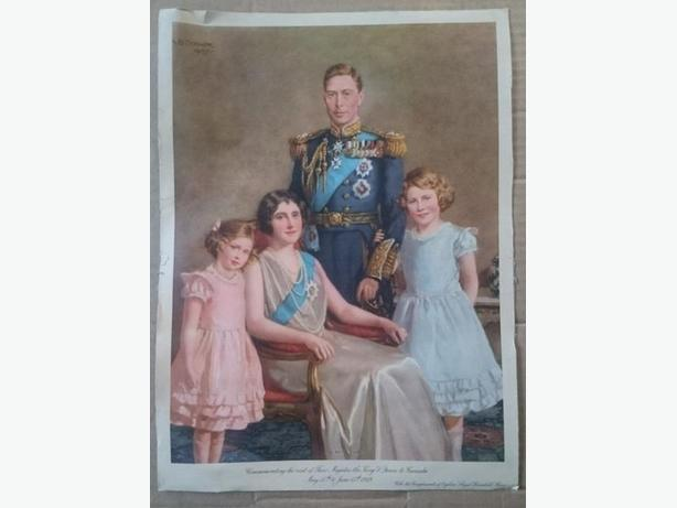 1937 Royal Family portrait poster