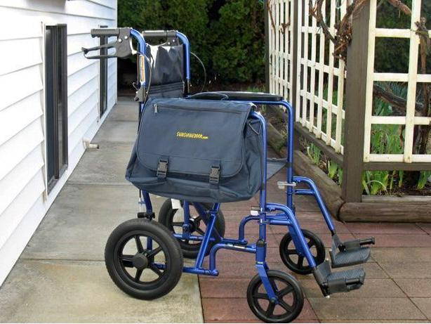 DELUXE INVACARE LIGHT WEIGHT TRANSPORT WHEELCHAIR FOR SALE