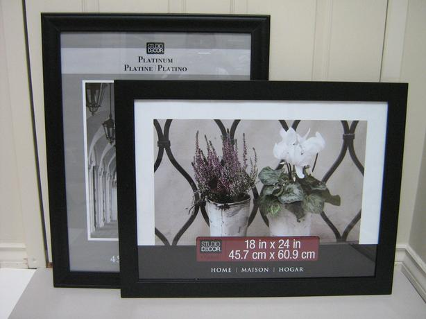 FRAMES ARE NEW -18x24  Black