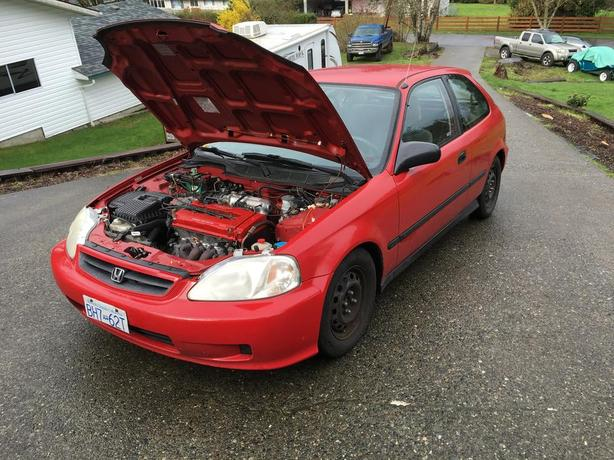 2000 Honda Civic Hatchback W/ 2000 SIR B16A2 VTEC