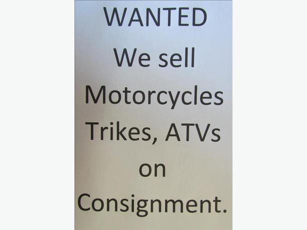 Wanted We will sell your motorcycle or ATV on Consignment