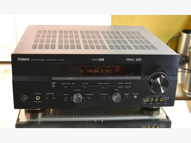 Yamaha rx v750 7 1 surround home theater stereo receiver for Yamaha home stereo receivers