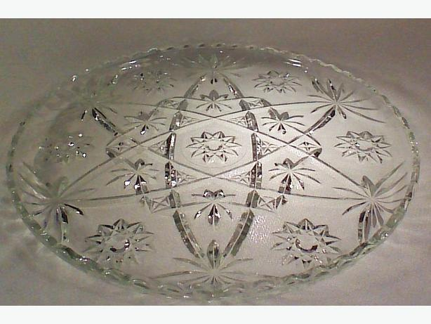 Anchor Hocking Star of David glass platter