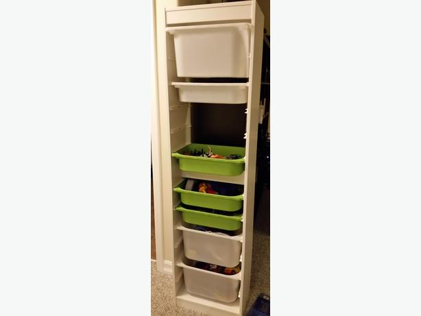ikea trofast frame white with 2 clear bins orleans ottawa. Black Bedroom Furniture Sets. Home Design Ideas