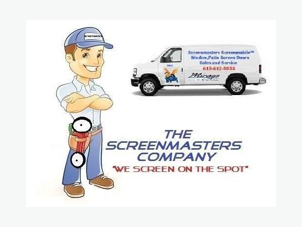 The ScreenMasters Company window,door screen repairs kanata 613-612-5555