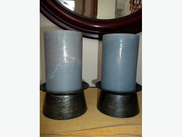 Pier 1 Candle Holders and Large Pier 1 Candles