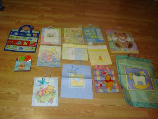 Many Like New Baby Shower Gift Bags - $1 each or all 13 bags for $10