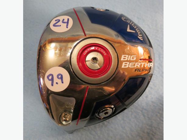 Callaway Big Bertha ALPHA Adjustable L/H Driver no irons no woods no bags