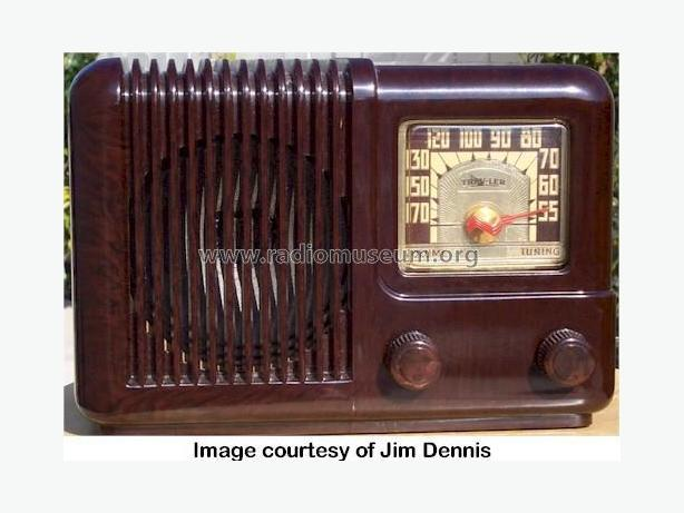 Working Antique Trav-ler 5002 Bakelite 1947 Radio