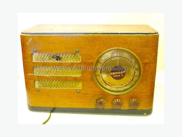 Working Antique Crosley 637 Super 6 Radio 1938
