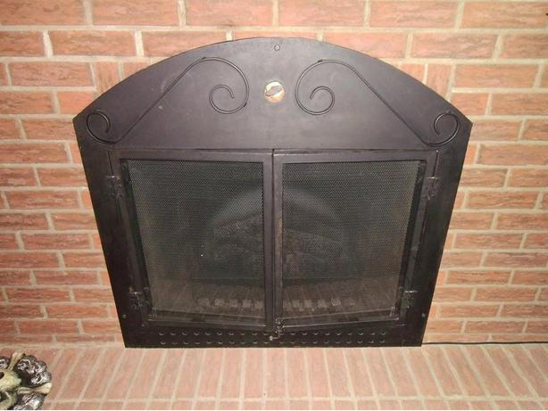 Fireplace Glass Doors with Screen Attached