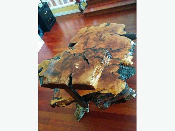Two Tier Burl Table