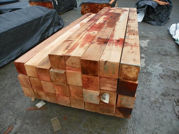 CEDAR 6x6 ROUGH WESTERN RED