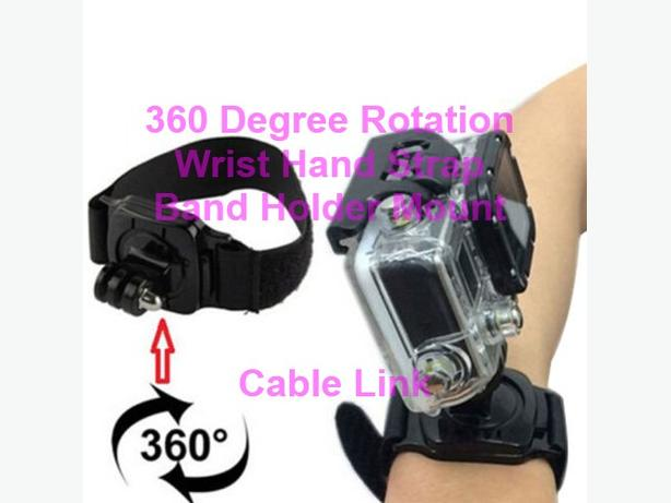 360° Rotation Wrist Hand Strap Band Holder Mount for Gopro and Sports Camera