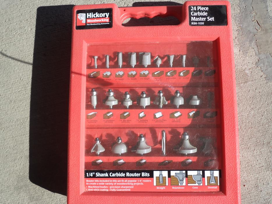 Carbide Router bits 24 pc set (New) East Regina, Regina - MOBILE