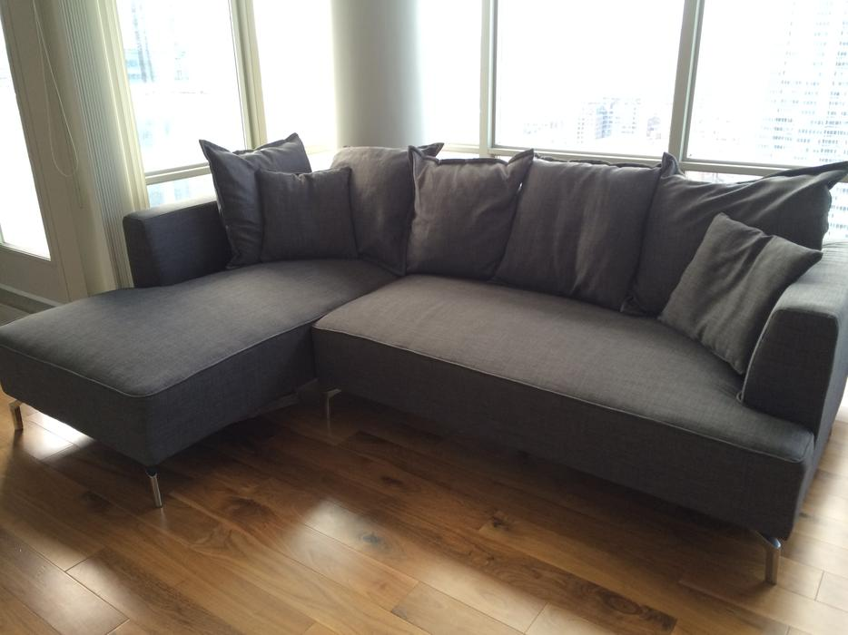 Structube kennedy sectional sofa for sale downtown toronto for Large sectional sofa toronto