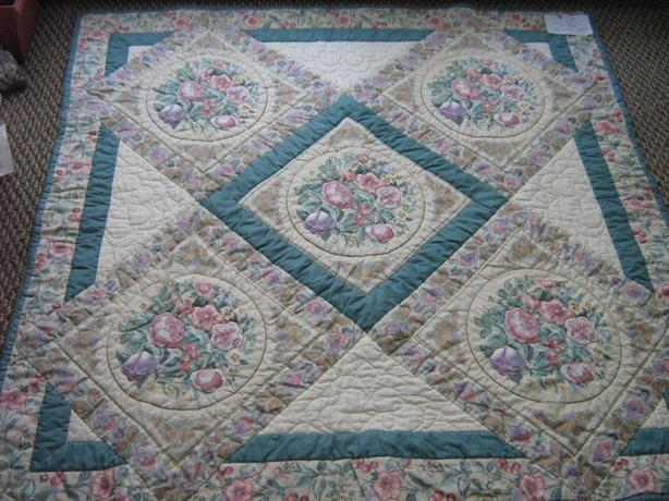"LAP QUILT 48"" X 48"" - Hand Quilted"