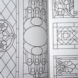 Four Stained Glass Pattern Books - Lamps, Art Nouveau