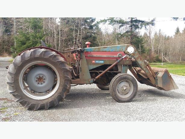 Massey Ferguson 135 With Loader : Massey ferguson diesel front loader tractor comox
