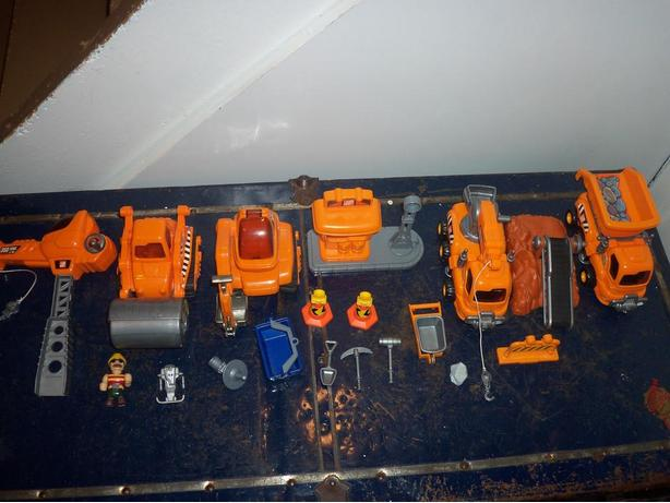 Home Depot toy truck set