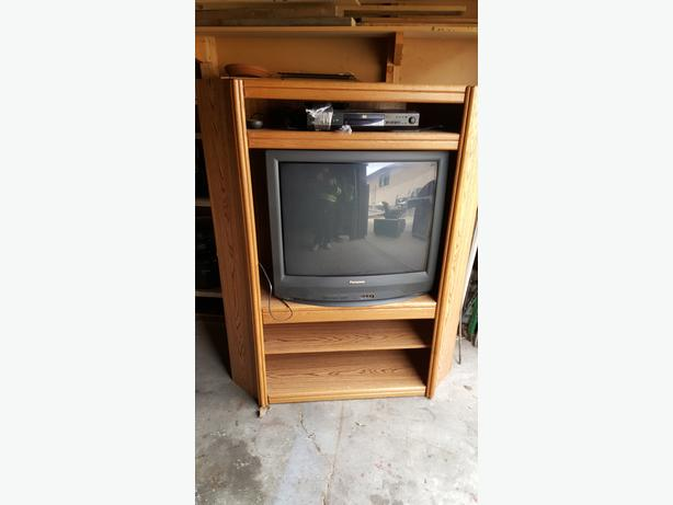 CORNER WALL UNIT WITH TV AND DVD PLAYER East Regina Regina