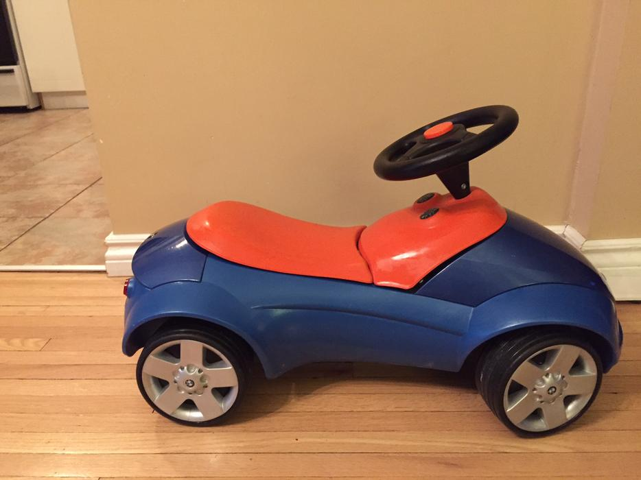 bmw genuine baby racer kids children ride on push toy car. Black Bedroom Furniture Sets. Home Design Ideas
