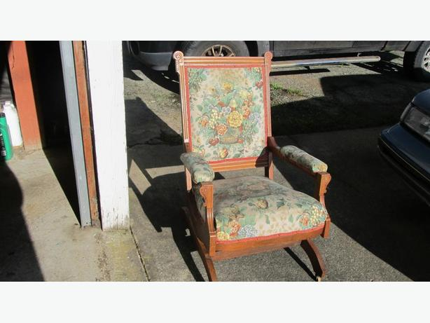CIRCA 1875 LAKEWOOD  PLATFORM ROCKING CHAIR