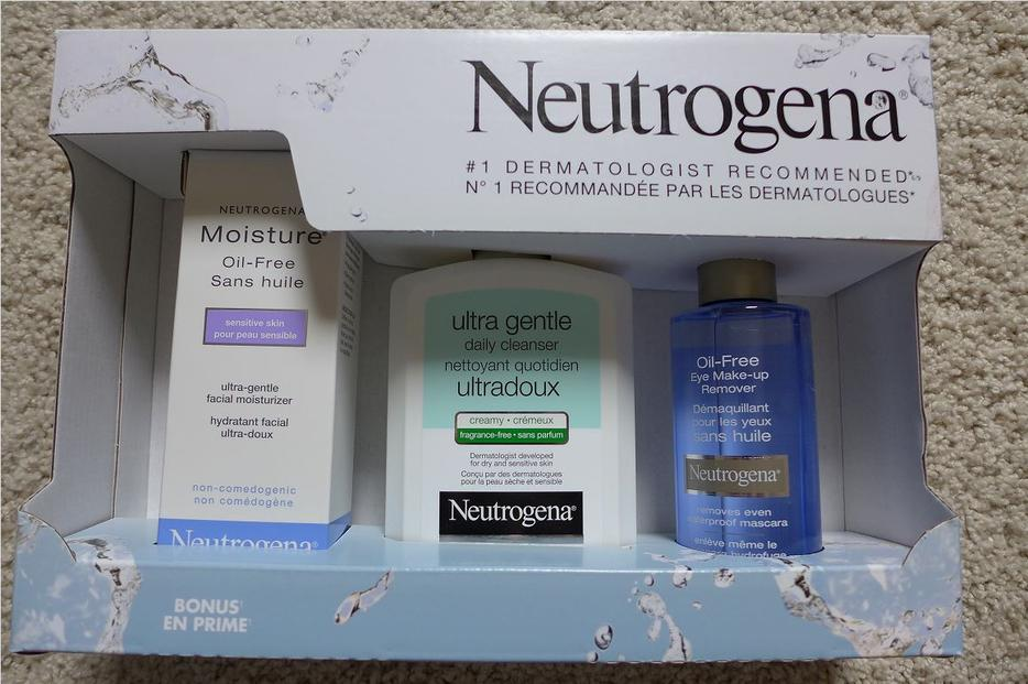 $20 · Neutrogena gift set moisture cream + cleaner + Eye make-up remover