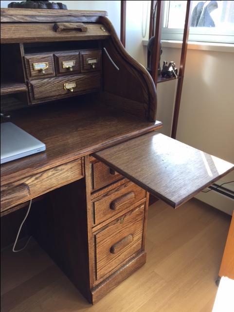 Oak Roll Top Desk Vancouver City Vancouver