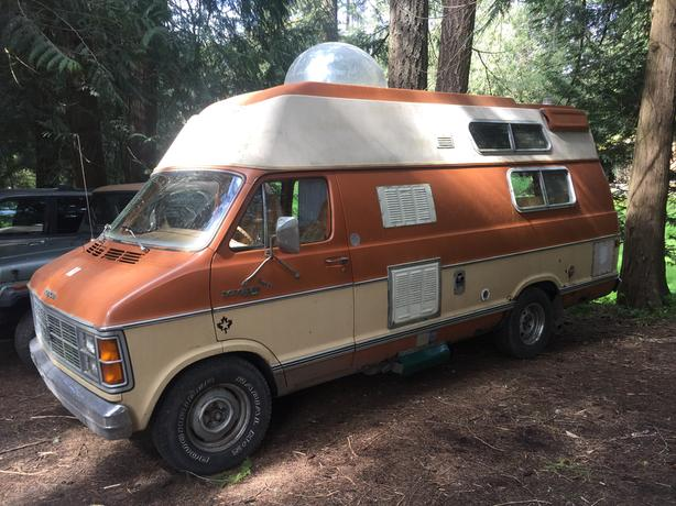 1980 Dodge Ram Camper Van Runs Good Awesome Interior 25 Watt Solar Power 12 Volt Cooler Bubble On Roof A Real Beauty Been Sitting But Still Running
