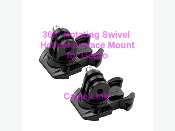 360° Rotating Swivel Helmet or Chest Surface Mount for GoPro Hero