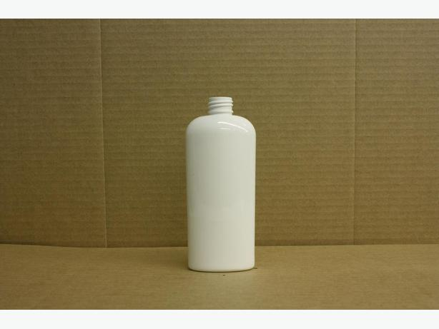 240ml White Oval Bottle (No Caps)