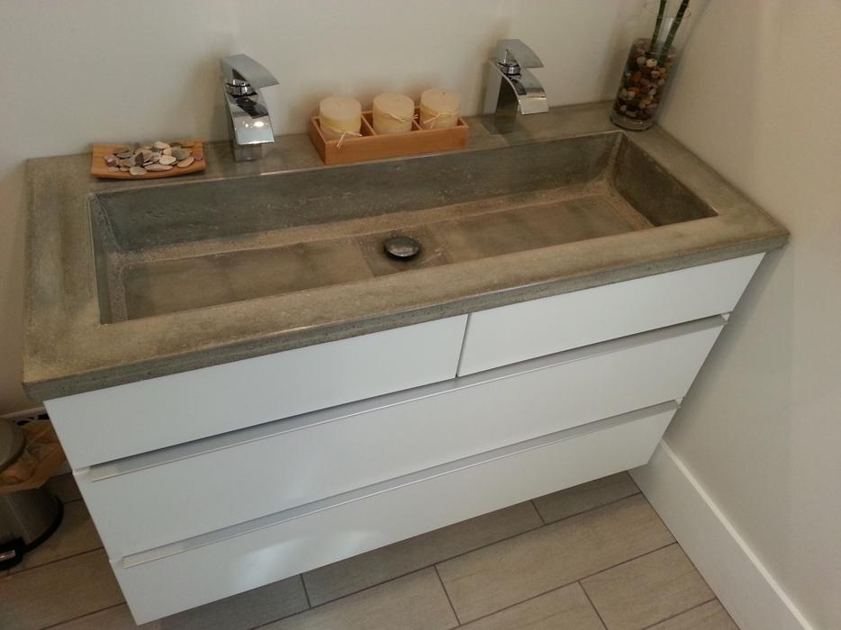 Kitchen Countertop And Custom Concrete Fabrication Shop Hull Sector Quebec Gatineau