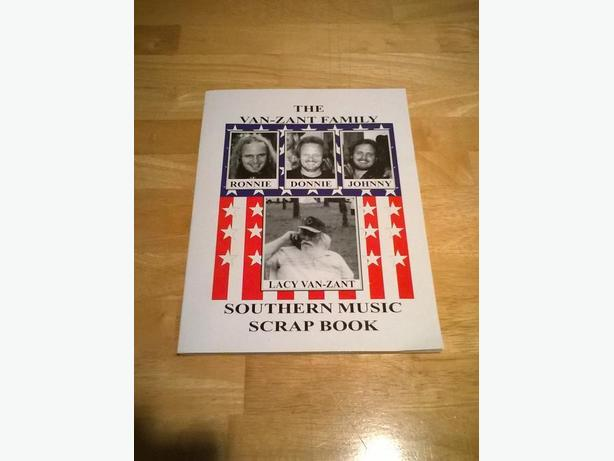 Lynyrd Skynyrd Van Zant Family Southern Music Scrap Book and Freebird Cafe Menu