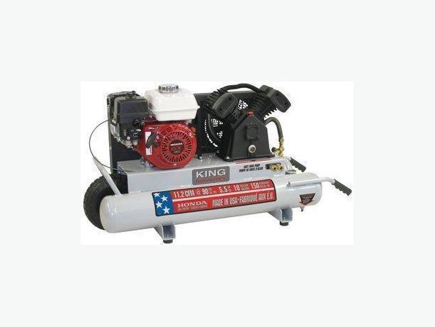King Air Air Compressors : King canada kc g gallon hp gas honda air