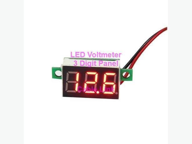 Red LED Panel Voltage Meter 3-Digital Adjustment Voltmeter