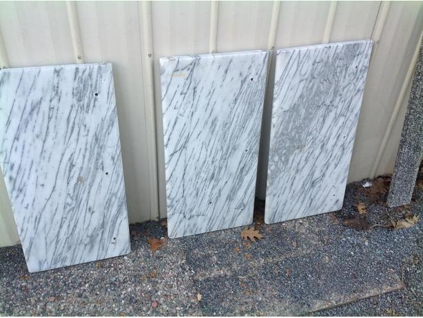 marble slabs 1.125 inches thick 14 wide 28.375 long