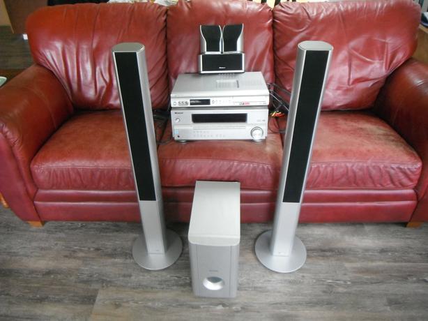 Pioneer cinema 5 speaker with receiver, DVD system-N. Duncan