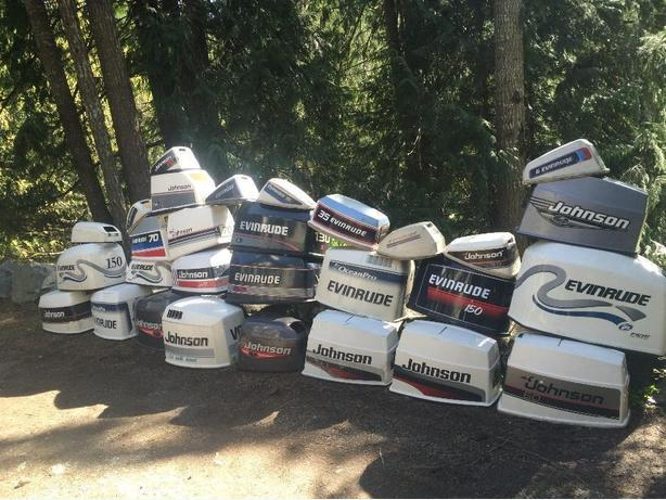 Lots Of Outboards Cowlings For All Different Makes