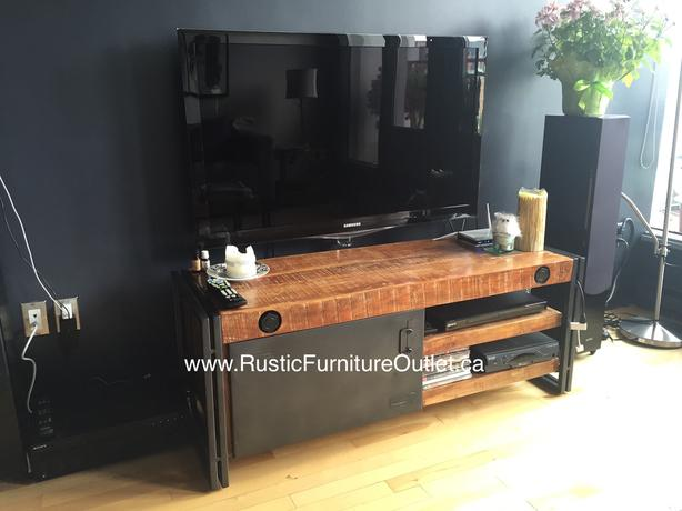 ⭐ Modern Industrial solid wood Tv stand ⭐
