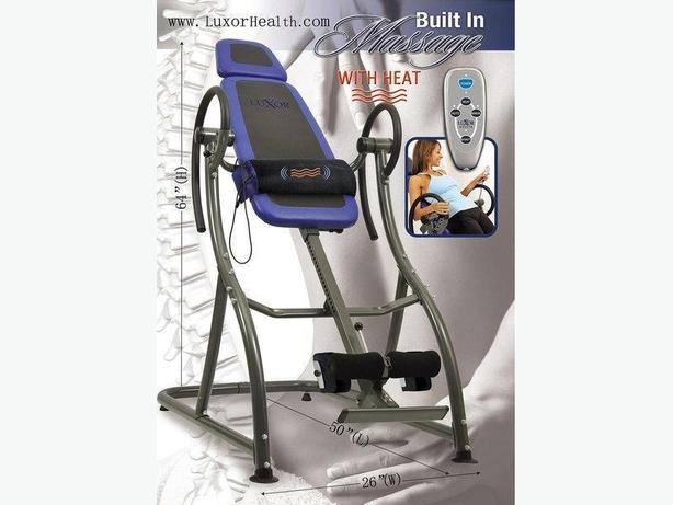 LUXOR HEALTH LH-1 Inversion table w/massage & heat (ON SALE ONLY $249.00)