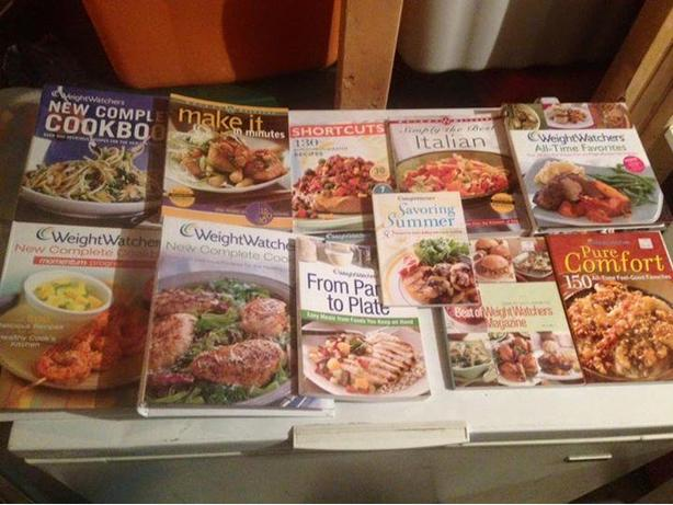 Weight Watchers cookbooks, magazines and binders